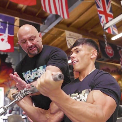 Train with The Pro Creator: Andrei and Devin Up In Arms with Hany Rambod