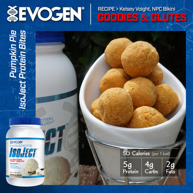 Pumpkin Pie IsoJect Protein Bites