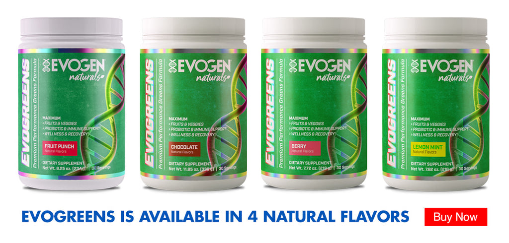 Evogreens is available in 4 natural flavors