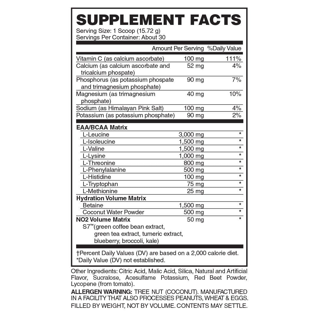 Premium Essential Amino Acid, Nitric Oxide, Betaine anhydrous, & S7