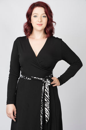 Rappers Delight Wrap dress - Long sleeves