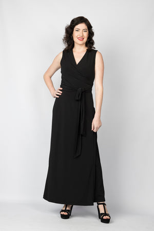 Take to the Floor Wrap maxi dress - Sleeveless
