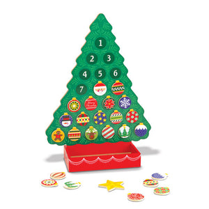 Melissa And Doug Countdown to Christmas Wooden Seasonal Calendar