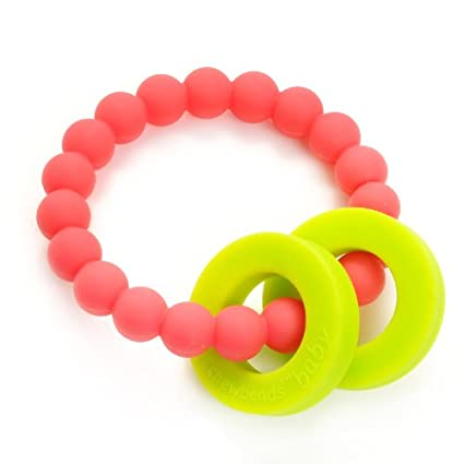 Chewbeads Mulberry Teether Punchy Pink - Childish Things Consignment Boutique