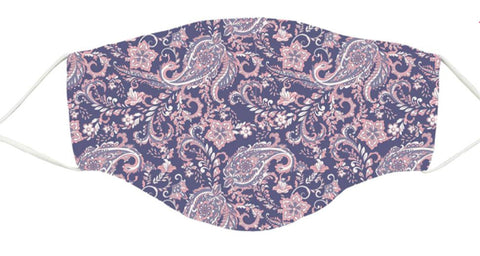 Snoozies Adult Mask/Face Covering Purple Paisley Size Adult