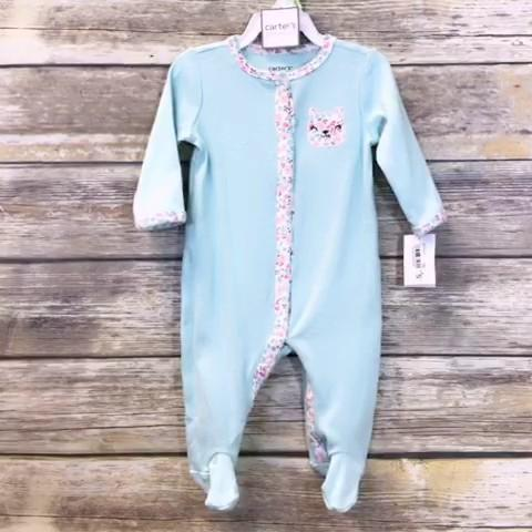 Carters Girls Sleeper Baby: 00-06m