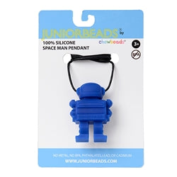 Chewbeads Juniorbeads Spaceman Pendant Blue - Shikokukentei Consignment Boutique