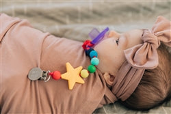 Chewbeads Go Where's the Pacifier Clip Rainbow - Childish Things Consignment Boutique