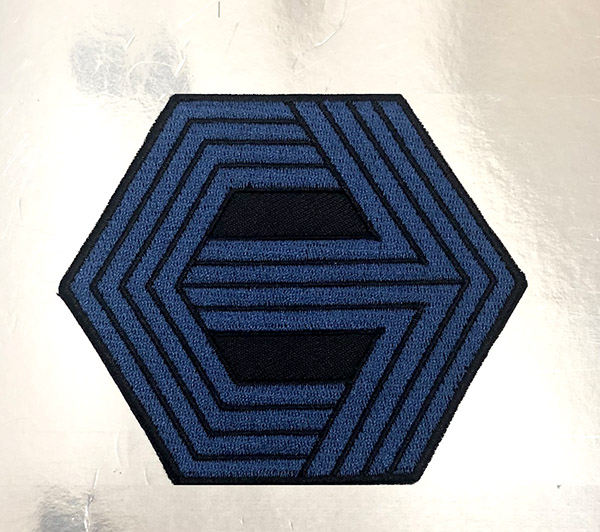 Cannon Logo Patch. Sewn/Embroidered, with iron on backing.