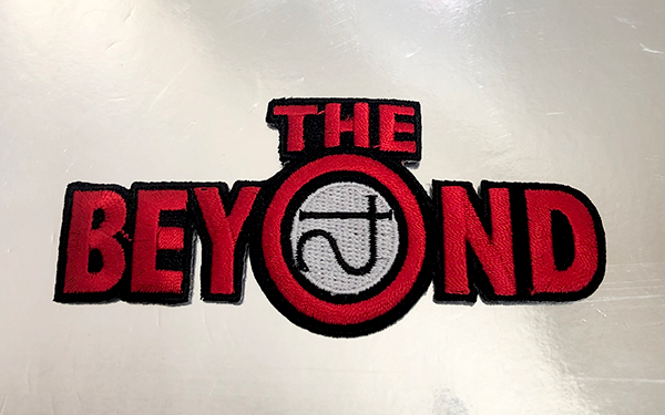 The Beyond Patch. Sewn/Embroidered with iron-on backing