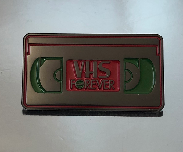 VHS Forever Pin
