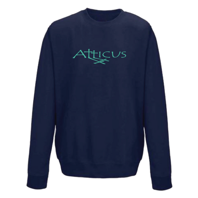 ATTICUS Double Cross Crew Fleece (Navy)