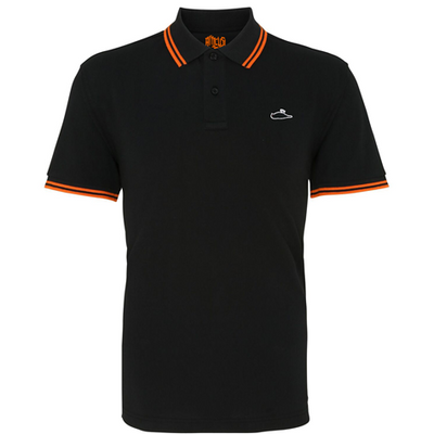 ATTICUS Classic Tipped Polo Shirt (Black/Orange)