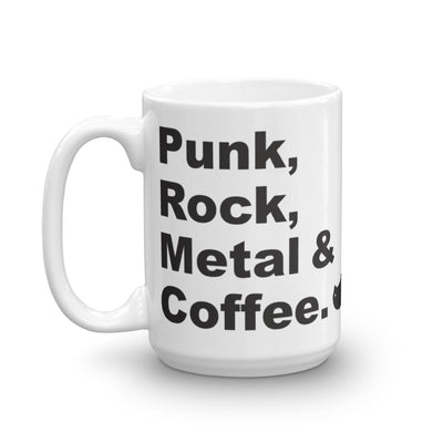 Punk Rock Metal Coffee Mug 15oz