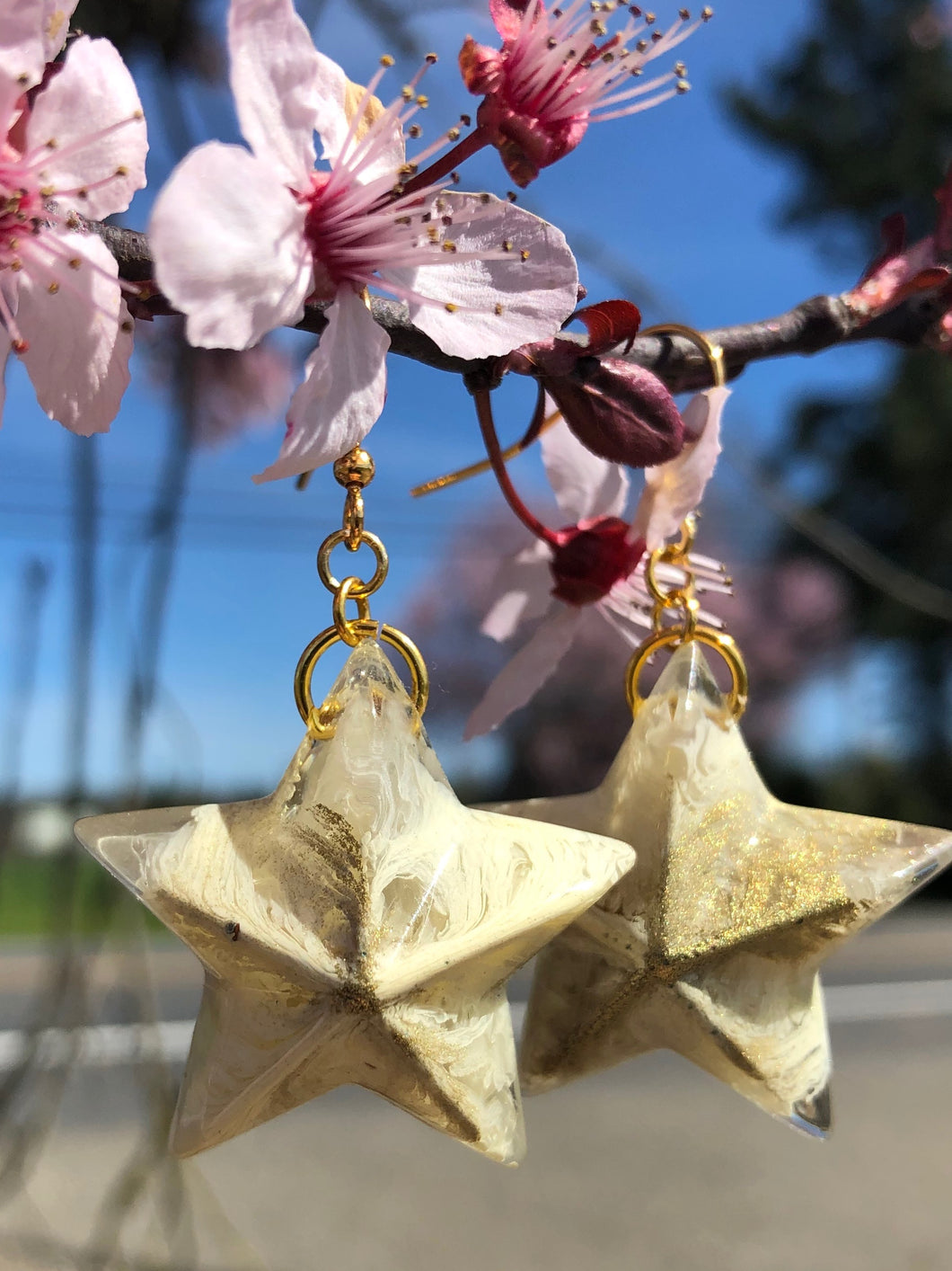 Cloudy Skies Star Earrings