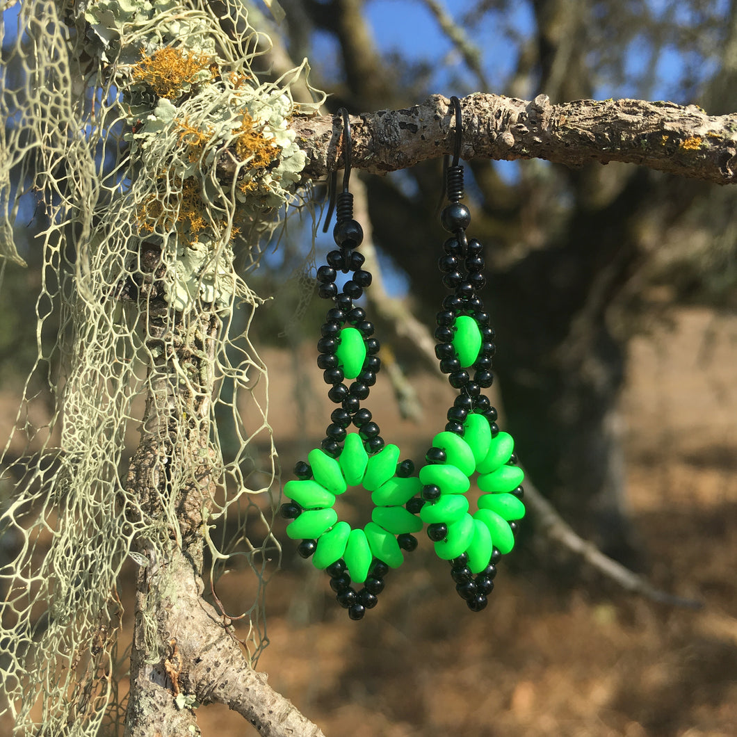 Daisy Drop Earrings- Acid Queen