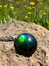 Load image into Gallery viewer, Duochrome Half Sphere Pendant Necklace