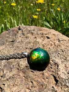 Duochrome Half Sphere Pendant Necklace