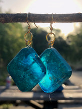 Load image into Gallery viewer, Nebula Earrings- Turquoise Square