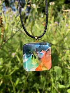 Almost Triadic Pendant Necklace-Emma Ambrose Art Collab
