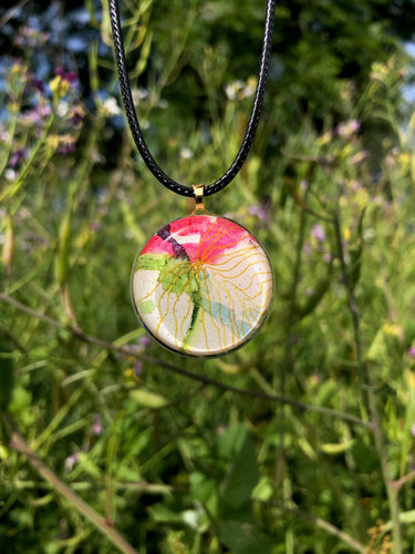 Vivid Pendant Necklace-Emma Ambrose Art Collab
