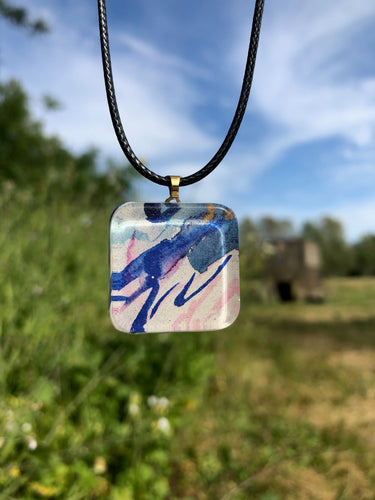Crying Pendant Necklace-Emma Ambrose Art Collab