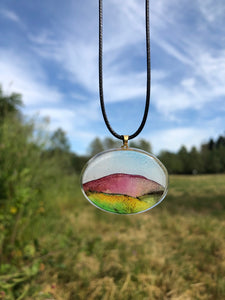 Shield Volcano Pendant Necklace-Emma Ambrose Art Collab
