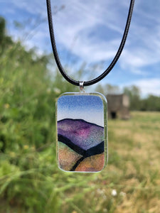 Mountains Majesty Pendant Necklace-Emma Ambrose Art Collab