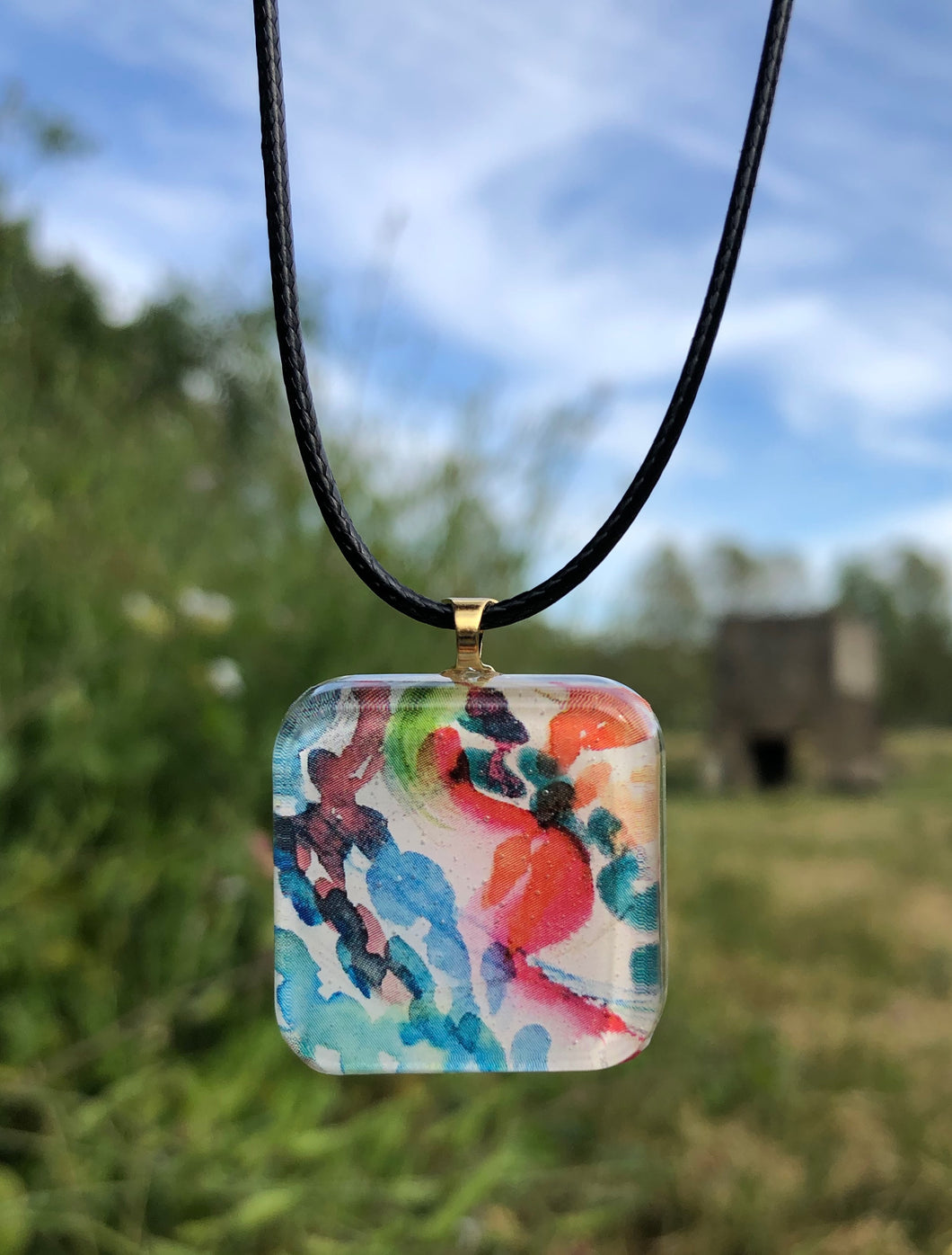 Dance Party Pendant Necklace-Emma Ambrose Art Collab