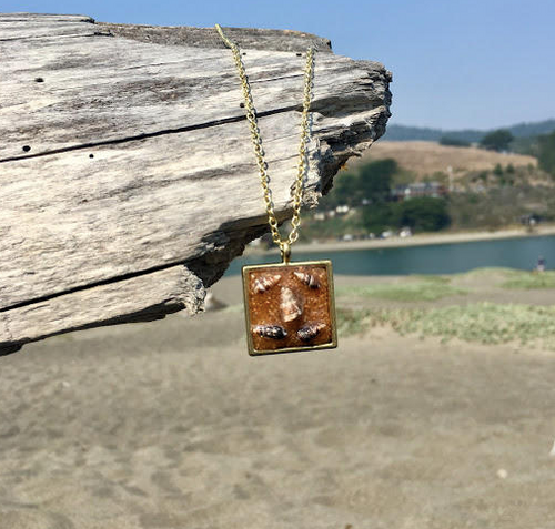 Tiny Shell Square Pendant Necklace