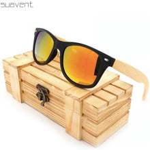 Load image into Gallery viewer, Mirrored Bamboo Sunglasses