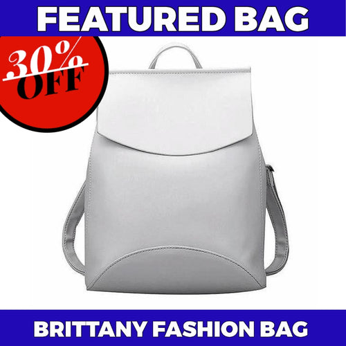 BRITTANY Faux Leather Backpack