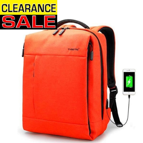 DESIGNER Travel USB Backpack