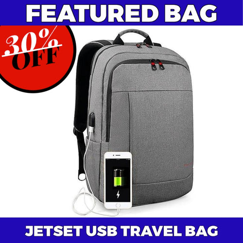 JETSET Laptop Travel USB Backpack