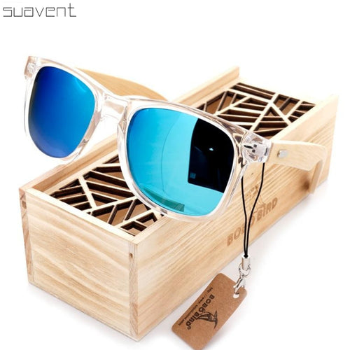 Clear Bamboo Sunglasses