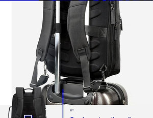 BOPAI™ Black Leather Business Backpack - Vital Backpacks