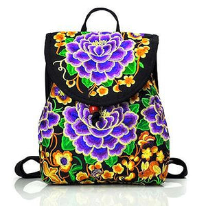 FLORAL Canvas Mini Backpack