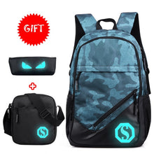Load image into Gallery viewer, Student Travel luminous  Laptop Bag  Backpack