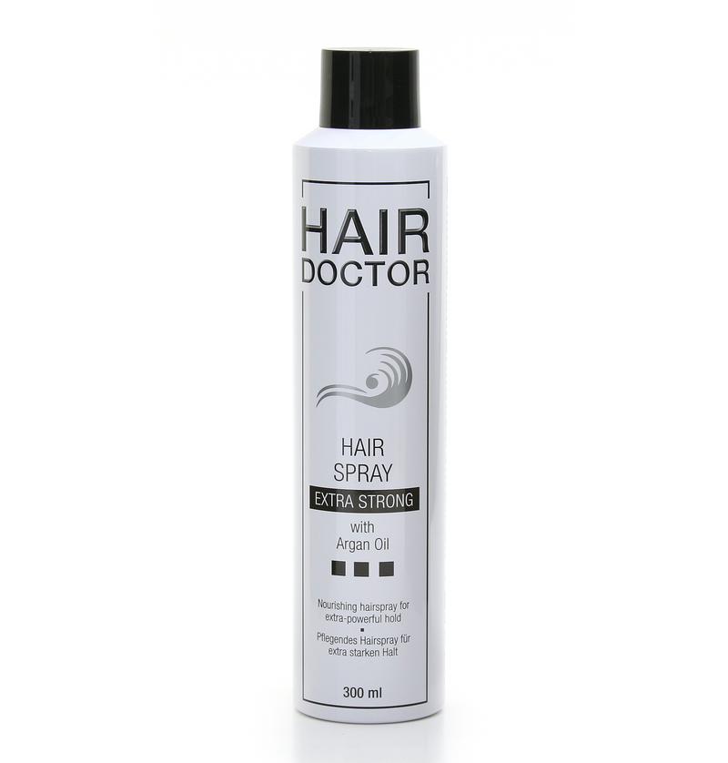 HAIR DOCTOR Haarspray Extra Strong mit Argan Öl - Hedo Beauty