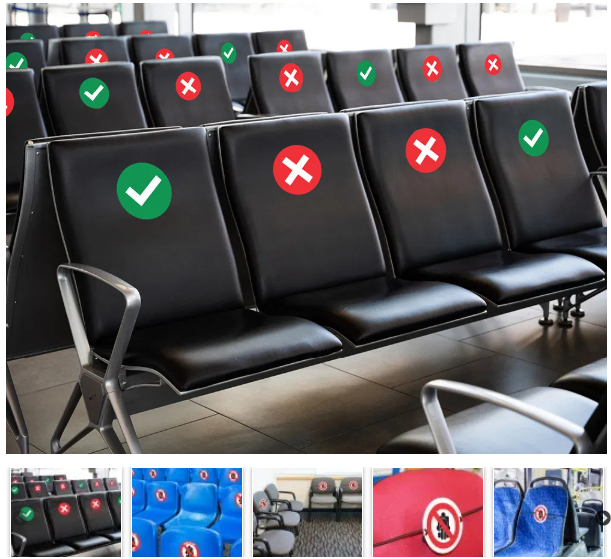 Social Distancing Seat Markers