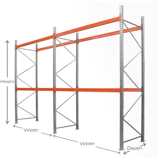 Pallet Racking 2 Bay Kit – 2 Levels