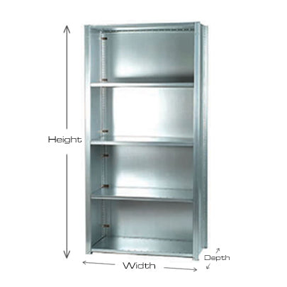 Short Span Industrial Shelving Bays - 1000mm wide - 5 Levels - Closed