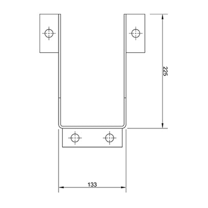 Narrow Aisle Column Guard Plan View