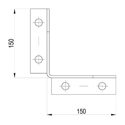 Corner Column Guard Plan View