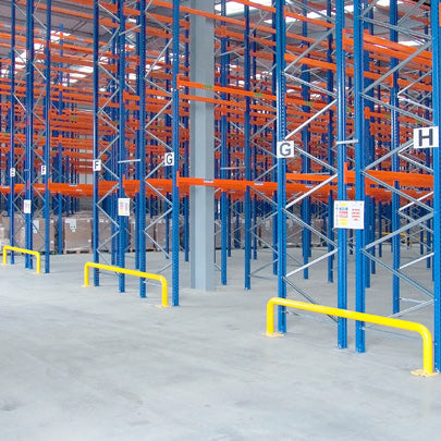 Warehouse Tubular Rack End Barriers