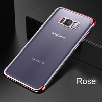 TOMKAS Silicone Case For Samsung Galaxy S8 S9 Cases Luxury Cover Cute Transparent Plating Conque Case For Samsung Galaxy S8 Plus