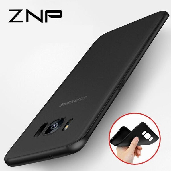 ZNP Ultra Thin Matte Silicone Cover Case For Samsung Galaxy S5 S6 S7 Edge S8 S9 Plus