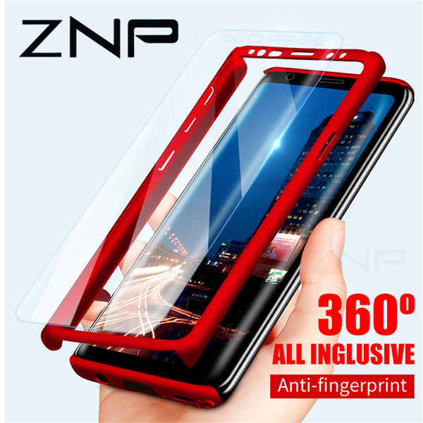 ZNP 360 Degree Shockproof Phone Case For Samsung Galaxy S9 S8 Plus Note 8+ 9