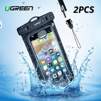 Ugreen Waterproof Case Bag Phone Pouch 6.3 inch Phone Bag Case For iPhone X 8 7 7Plus 6S 6Plus Samsung Galaxy S9 S8 Phone Case