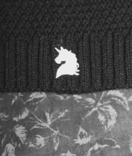 Load image into Gallery viewer, Black Unicorn Beanie